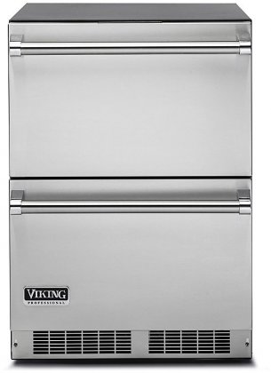 Viking VDUI5240DSS 24 Professional 5 Series Undercounter Refrigerator Drawers with 5 cu. ft. Capacity