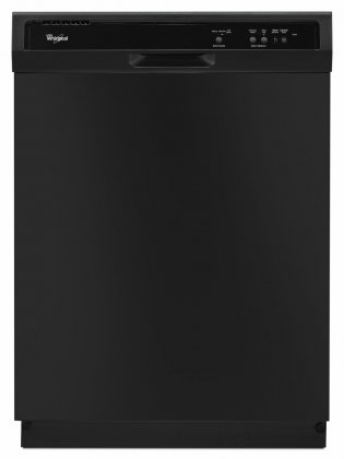 Whirlpool WDF121PAFB 24 Built-In Full Console Dishwasher with 12 Place Settings  1-Hour Wash Cycle  High Temperature Wash Option and  Heated Dry: