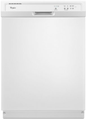 Whirlpool WDF121PAFW 24 Built-In Full Console Dishwasher with 12 Place Settings  1-Hour Wash Cycle  High Temperature Wash Option and  Heated Dry:
