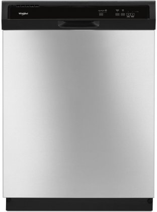 Whirlpool WDF330PAHS 24 Built-In Dishwasher with 3 Wash Cycles  Energy Star  Star K Certified  Heated Dry  4 Hour Delay  55 dBA Noise Level and Control Lock  in