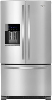 "Whirlpool WRF555SDFZ 36"" 25 cu. ft. French Door Refrigerator with Tap-Touch"