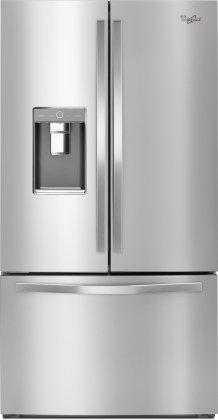 Whirlpool WRF993FIFM 36 French Door Refrigerator with 31.53 cu. ft. Capacity  Dual Ice Makers  Pantry Style  Ice and Water External Dispenser  in Stainless