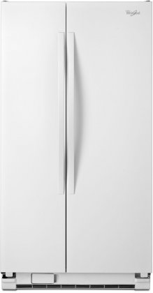 Whirlpool WRS322FNAW 33 Side-by-Side Refrigerator with 22 cu. ft. Capacity  SpillGuard Glass Shelves  Adjustable Gallon Door Bins  Accu-Chill Temperature System and