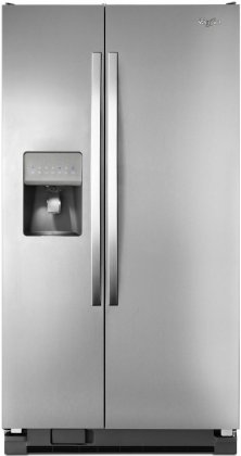 Whirlpool WRS325FDAD 36 Side-by-Side Refrigerator with 24.5 cu. ft. Capacity  Accu-Chill Temperature Management System  SpillGuard Glass Shelves  and External Filtered