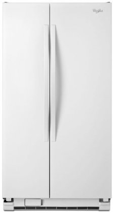 Whirlpool WRS325FNAW 36 Side-by-Side Refrigerator with 25 Cu. Ft. Capacity  SpillGuard  Glass Shelves  Adjustable Gallon Door Bins and Accu-Chill Temperature Management