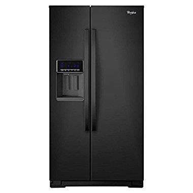 Whirlpool WRS571CIDB 20.6 cu. ft. Counter-Depth Side-by-Side Refrigerator (Black)
