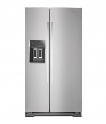 Whirlpool WRS586FIEM 36 Side-by-Side Refrigerator with 26 cu. ft. Capacity  Accu-Chill Temperature Management  In-Door-Ice System  Frameless Glass Shelves and Exterior