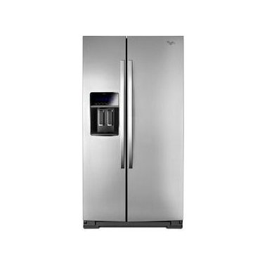 WHIRLPOOL WRS973CIDM 36 Wide Side-by-Side Counter Depth Refrigerator with StoreRight(TM) Dual Cooling System 23 cu. ft.
