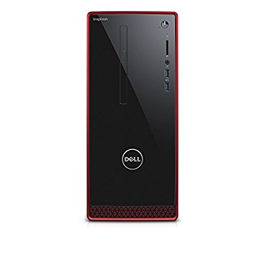 Dell I3656-3355BLK Inspiron 3000 Series Desktop with AMD A10-8700P 1.8GHz 8GB RAM 2TB HDD, Win 10