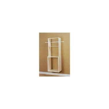 Easy Track RV2072 Closet Hanging Hutch Kit, White