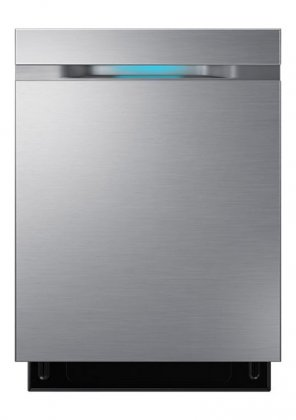Samsung DW80J7550US 24 Built In Dishwasher with 15 Place Settings  44 dBA Noise Level, Hidden Touch Controls