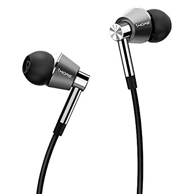 1MORE Triple Driver In-Ear Headphones (Earphones/Earbuds/Headset) with Apple iOS and Android Compatible Microphone and Remote (Titanium)