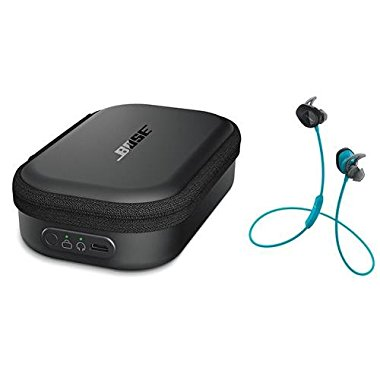 Bose SoundSport Wireless Headphones Aqua Bundle With Bose Charging Case for SoundSport Wireless Headphones