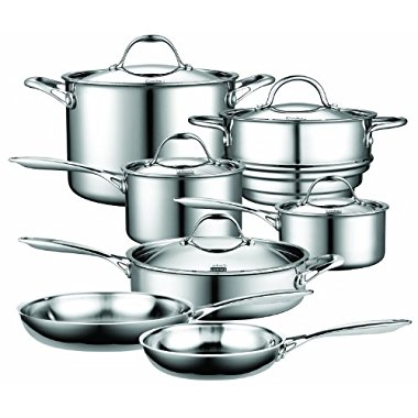 Cooks Standard NC-00232 12-Piece Multi-Ply Clad Stainless-Steel Cookware Set
