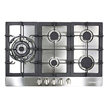 Cosmo 950SLTX-E 34 Gas Cooktop with 5 Burners , Stainless Steel