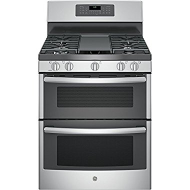 GE JGB860SEJSS 30 Stainless Steel Gas Sealed Burner Double Oven Range Convection