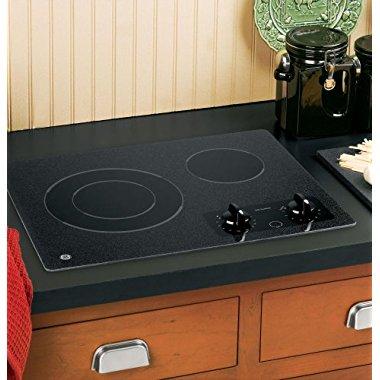 GE JP256BMBB CleanDesign 22 Black Electric Smoothtop Cooktop