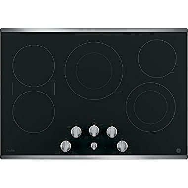 GE Profile PP7030SJSS 30 Built in Electric Cooktop with 5 Radiant Cooking Elements & Front Center Control Knobs