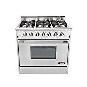 NXR DRGB3602 Professional Style Gas Range, 36, Stainless Steel