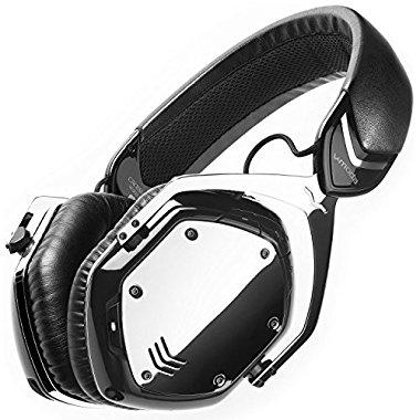 V-MODA Crossfade Wireless Plus Wired Over-Ear Bluetooth Headphones (Phantom Chrome)