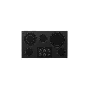 Whirlpool G7CE3635XB Gold 36 Black Electric Smoothtop Cooktop