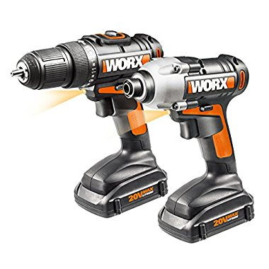 WORX WX916L 20V LI Combo Kit with Drill and Impact Driver (2 Piece)
