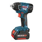 Bosch IWH181-01 18-Volt Lithium-Ion 3/8 Square Drive Compact Impact Wrench Kit with 2 Batteries, Charger and Case