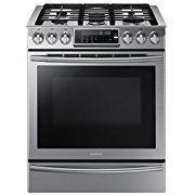 Samsung NX58H9500WS Slide-In Stainless Steel Gas Range with 5 Sealed Burners, 30