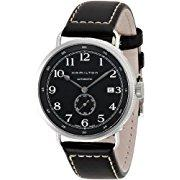 Hamilton Khaki Navy Pioneer  Black Dial, Black Leather Mens Watch (H78415733)