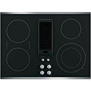 GE Profile 30 Downdraft Electric Cooktop Glass Top with Stainless Steel Trim PP9830SJSS