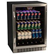 EdgeStar 148-can Black/ Stainless Steel Beverage Cooler (CBR1501SG)