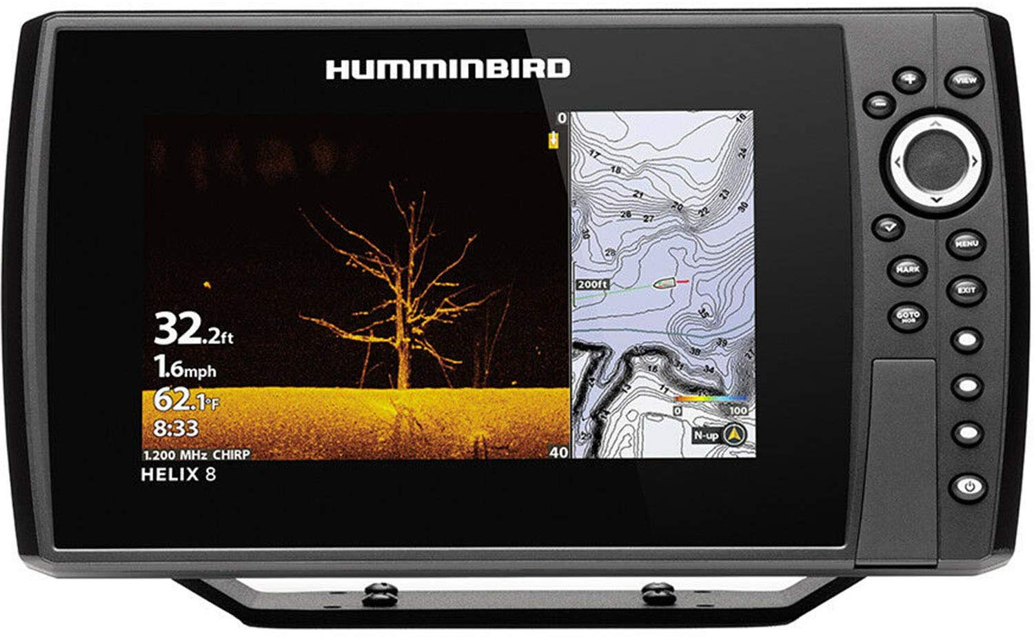 Humminbird 410910-1CHO Helix 12 G3N CHO Fish Finder with Chirp, MEGA DI, GPS, and 12.1-Inch-Display, Black