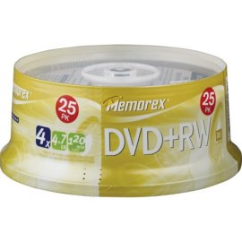 Memorex 4.7GB 4x DVD+RW Media