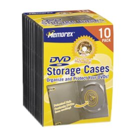 Memorex 32021980 DVD Storage Cases 10 Pack