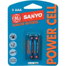 Sanyo Ac2Aaa Alkaline Batteries Blister Packs