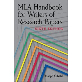 MLA Handbook for Writers of Research Papers, Sixth Edition